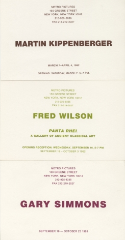 Invitations from 1992 and 1993