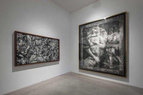 Installation of Robert Longo: When Heaven and Hell Change Places at Hall Art Foundation