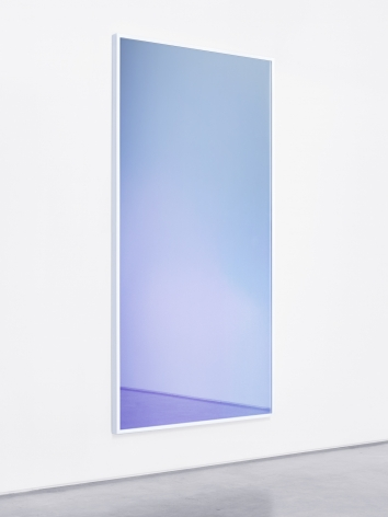 Metal Mirror VII (Magia Naturalis), 2013. Digital C-print and Mirona glass, 97 1/2 x 49 1/2 inches (247.7 x 125.7 cm).