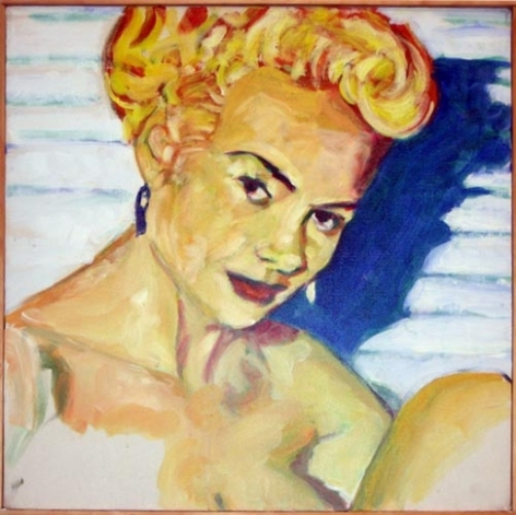 Artist's Model, 1984. Acrylic on canvas, 24 x 24 inches (61 x 61 cm). MP 10