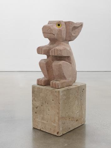 Olaf Breuning sculpture 'Sad and worried animals / Rabbit'