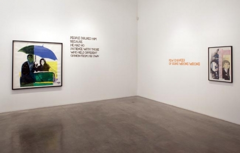 Paulina Olowska, installation view, 2009. Metro Pictures, New York.
