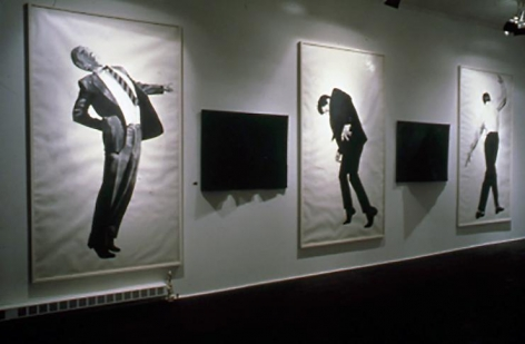 """""""Men in the Cities,"""" installation view, 1981. Metro Pictures, New York."""