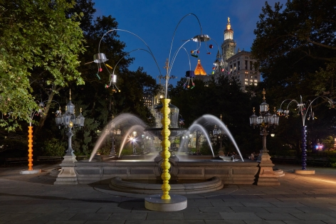 Kitchen Trees. Installation view, 2018. City Hall Park, New York.