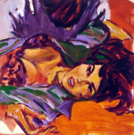 Divorcee, 1984. Acrylic on canvas, 24 x 24 inches (61 x 61 cm). MP 18