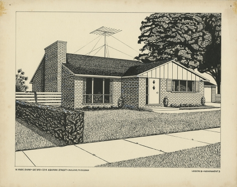 Mark Shaw drawing of a house