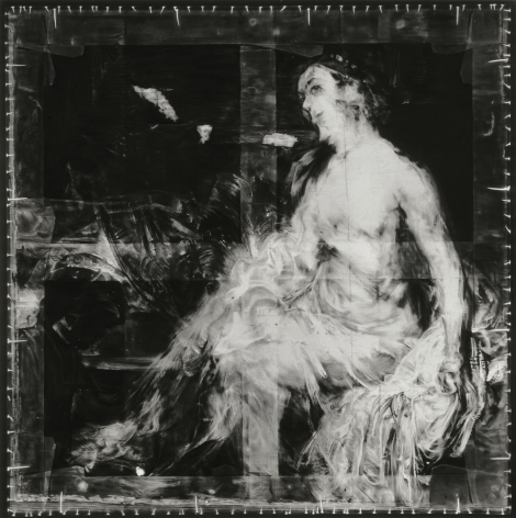 Robert Longo-Untitled (X-Ray of Bathsheba at her Bath, 1654, After Rembrandt) drawing