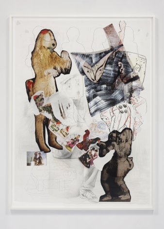 Paulina Olowska collage 'The Witch's Dog - Proposal for Costumes of an Imaginary Play'
