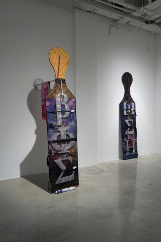 Wickerham & Lomax sculpture 'Frat Paddles'