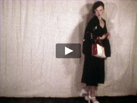 Cindy Sherman video in unhappy hooker disguise