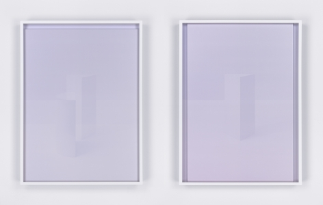 Crepuscule (detail), 2015. Set of nine framed works, each containing two digital C-prints.