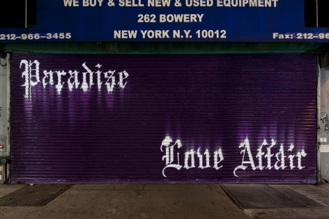 After Hours: Murals On The Bowery. Installation view, 2011. 262 Bowery, New York.