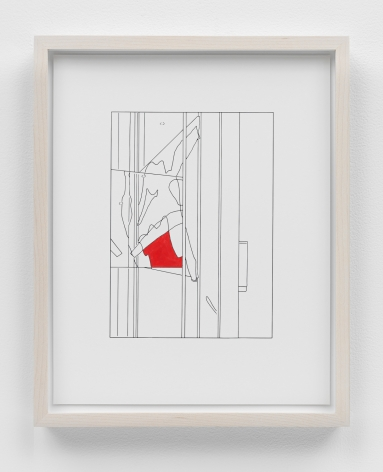 Louise Lawler work 'Water to Skin (traced and painted), First'