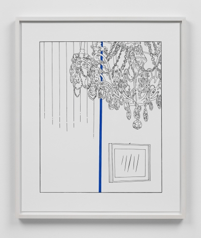 Louise Lawler work 'Chandelier (traced and painted), Fifth'