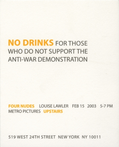 Louise Lawler invitation