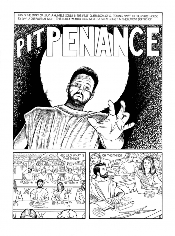 Pit of Penance (detail), 2006. Ink on paper, 7 parts, Each 20 x 15 inches (50.8 x 38.1 cm).