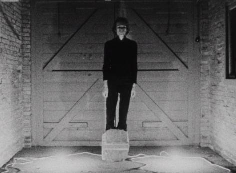 """Nightfall, 1971 16mm black and white film, 4'16"""""""
