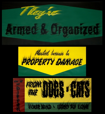 Gary Simmons Armed and Organized, Property Damage, Dogs & Cats, 2008