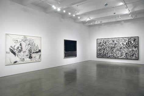 "Robert Longo, ""Gang of Cosmos."" Installation view, 2014. Metro Pictures, New York."