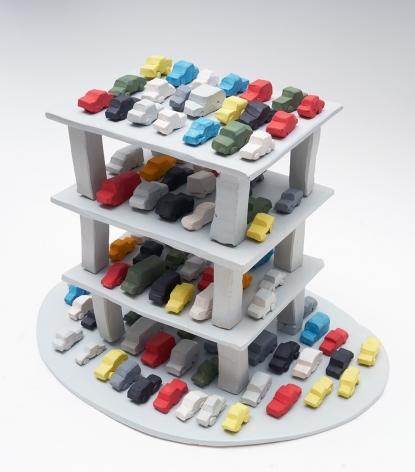 Parking Garage, 2017, 106 ceramic sculptures, 12.2 x 16.54 x 11.02 inches (31 x 42 x 28 cm)