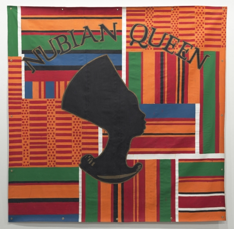 Nubian Queen, 1993. Latex on tarpaulin, 96 x 96 inches (243.8 x 243.8 cm).