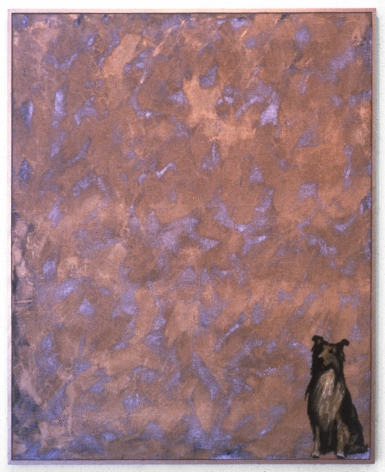 Thomas Lawson of a distressed surface with dog