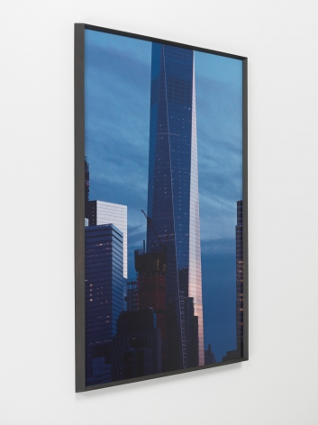 Oto Gillen, 1 WTC, February 18, 2017, 2018. Dye sublimation print on aluminum, wood,