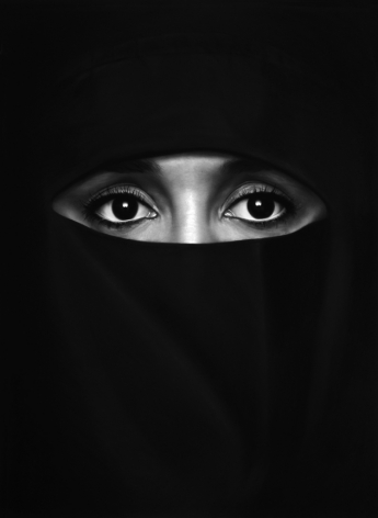 Robert Longo, Untitled (Hanane in a Burka), 2010.