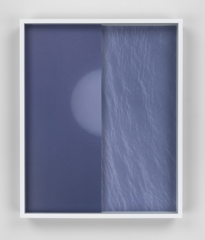 Shadow/Moon/Sea, 2015. 2 Digital C-prints, one mounted on aluminum, one on glass, 16 1/2 x 14 1/2 inches (41.9 x 36.8 cm).