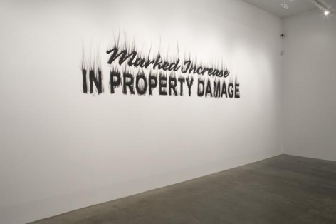 Gary Simmons The Ghost Sign Series: Property Damage, 2008