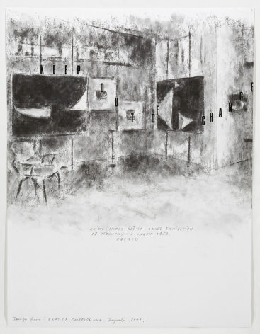Freeze Images, 2007. Pencil on paper, Mixed media, 25-1/2 x 20 inches (62.2 x 50.8 cm).