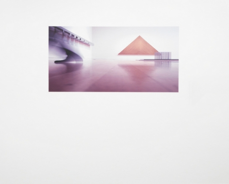 Triangle (Adjusted to fit), 2008/2011. Adhesive wall vinyl, image altered to conform to the proportions of a wall. MP 628-A