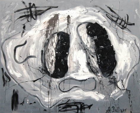 André Butzer, Untitled (F.S.), 2008. Oil on canvas, 78.74 x 98.43 inches (200 x 250 cm). MP 33