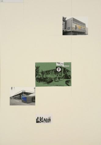 David Maljkovic - Lost Pavilions collage on paper
