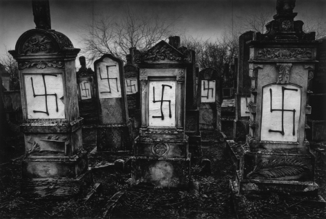 Untitled (Defaced Jewish Cemetery; Strasbourg, France; December 14, 2018), 2019.