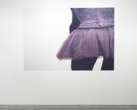 Marie (Adjusted to fit), 2010/2011. Adhesive wall vinyl, image altered to conform to the proportions of a wall. MP 664-A