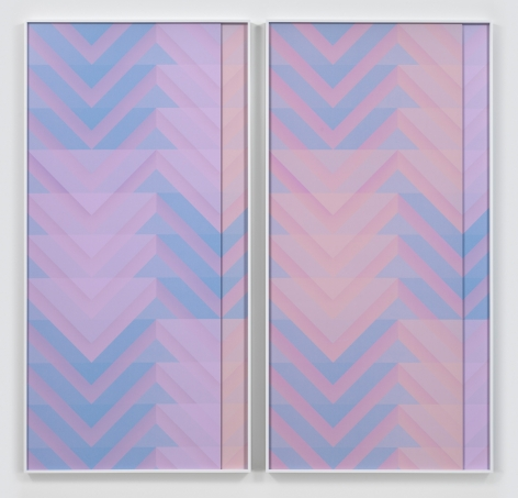 Roman Stripe IV, 2016. 2 digital C-prints, Each 96 7/8 x 100 3/4 inches (246.1 x 255.9 cm).