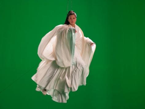 Green Screen Goddess (Ten Thousand Waves), 2010. Endura Ultra photograph, 70.87 x 94.49 inches (180 x 240 cm). MP 82