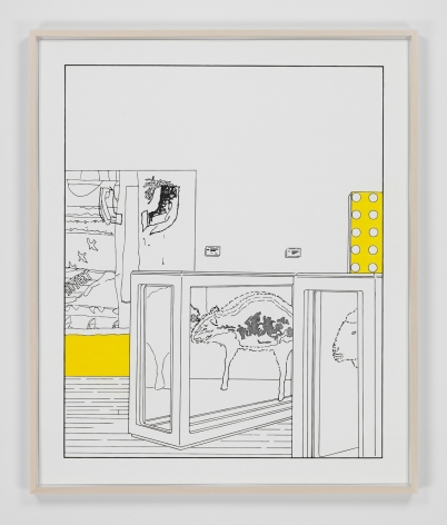 Louise Lawler work 'Dots and Slices (traced and painted), Seventh'