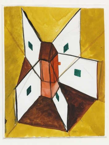 René Daniëls untitled watercolor from 1987