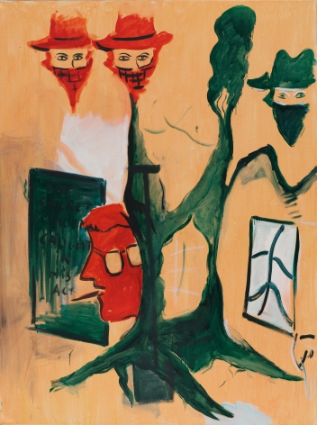 Caught in His Act,1982. Oil on canvas, 78 x 59 in (200 x 150.5 cm). MP 5