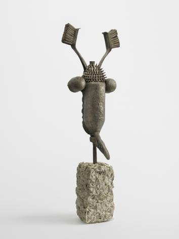 EYW, 2019. Bronze, cement, 16 1/2 x 8 x 5 3/4 inches (41.9 x 20.3 x 14.6 cm).