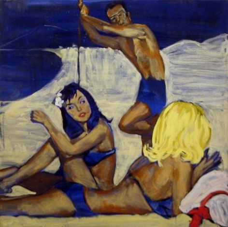 Man for Hire, 1984. Acrylic on canvas, 36 x 36 inches (91.4 x 91.4 cm). MP 31