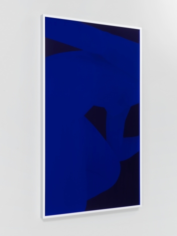 Pink Nude, Blue, 2013. Digital C-print with Blue and Pink Plexi-Glas, 80 x 48 in (203.2 x 121.9 cm).