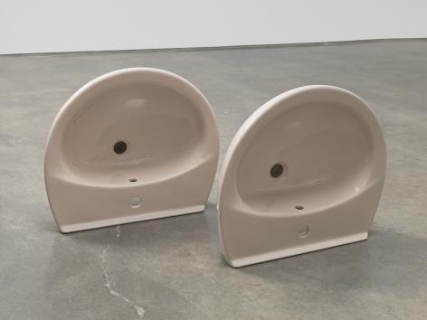 Plug, 2018. Ceramic sinks, hand-rolled cigars,