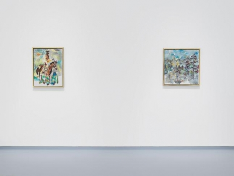 "Andy Hope 1930, ""Impressions d'Amérique."" Installation view, 2014. Metro Pictures, New York."