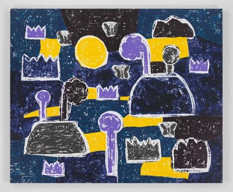 Olaf Breuning painting 'Lake'