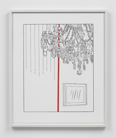 Louise Lawler work 'Chandelier (traced and painted), Third'