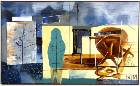Martin Kippenberger - Betty Ford Clinic work on canvas