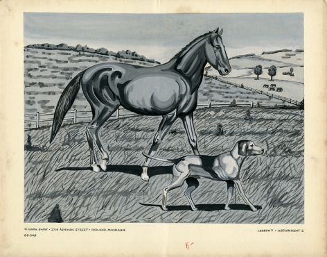 Mark Shaw drawing of a horse